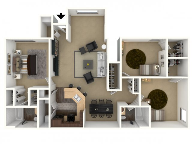 3 Bedroom Floor Plan | Providence Lakes 2