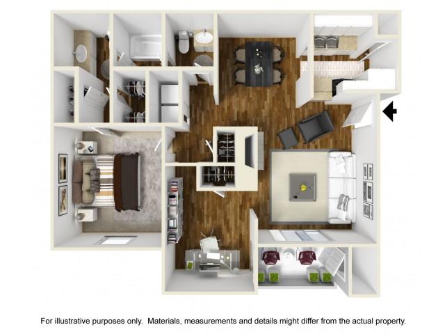 1 Bed / 1.5 Bath Apartment in Grand Prairie TX | Windridge Apartments