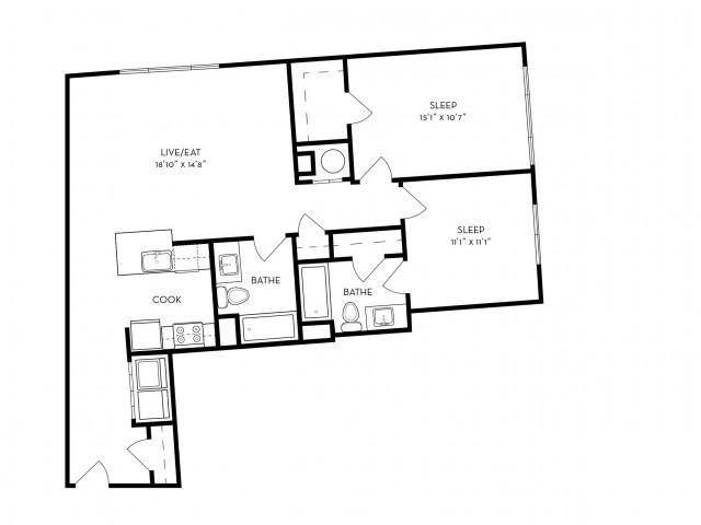 2 Bed 2 Bath Apartment In Malden Ma Halstead Malden Square