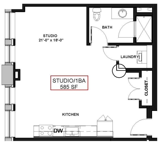 For The STUDIO Floor Plan.