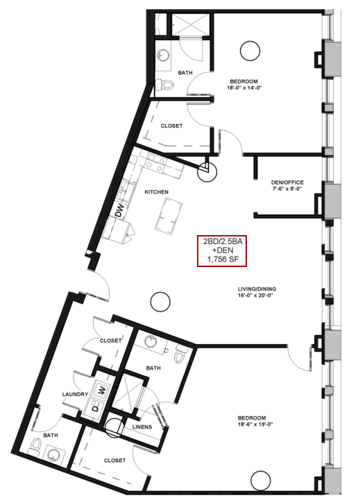 2 Bed / 2.5 Bath Apartment in Rochester NY | Spectra at Sibley Square