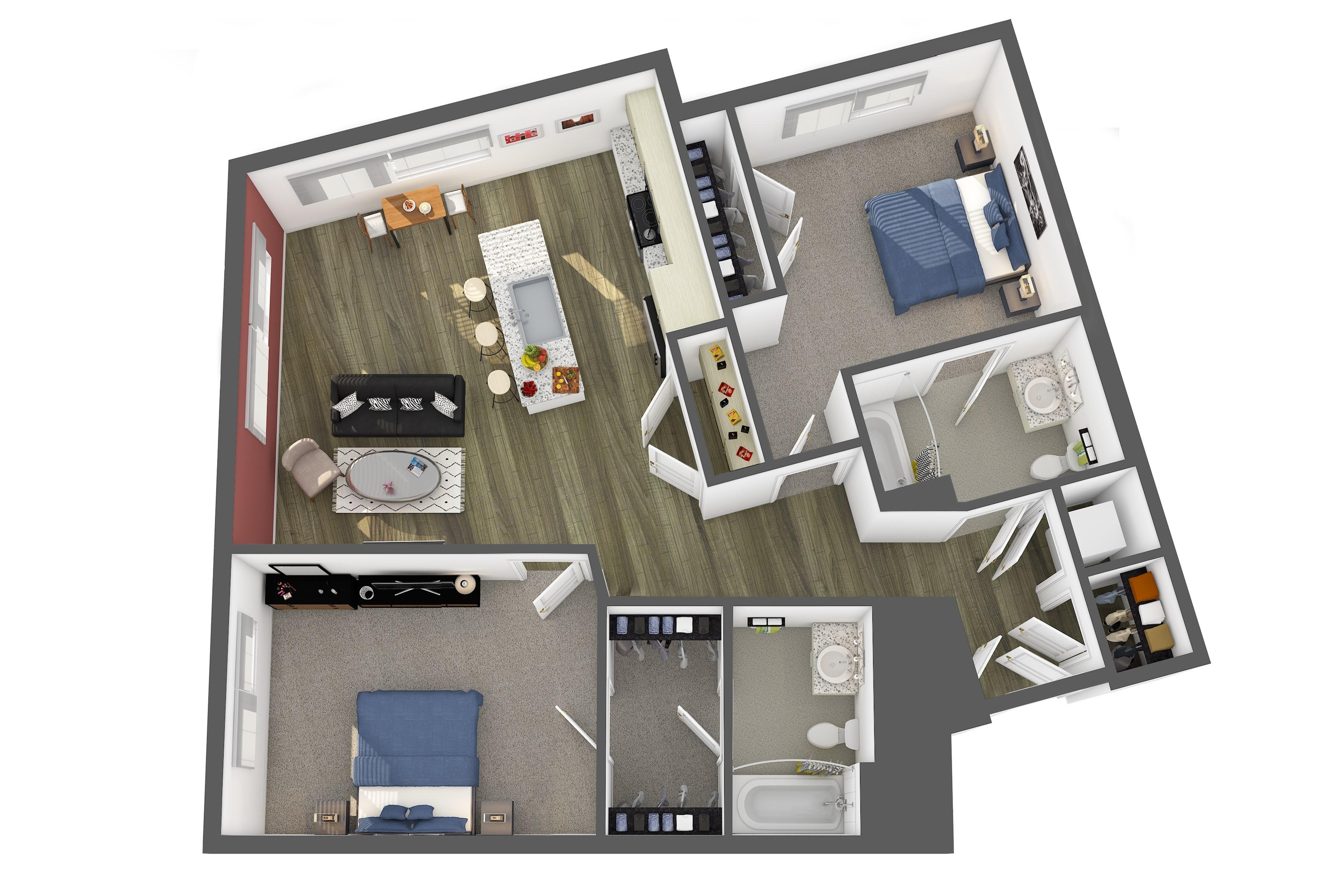 The Guggenheim Floor Plan