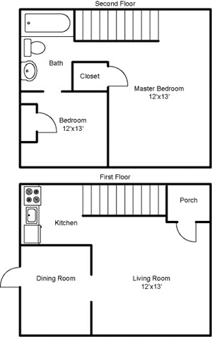 2 Bed / 1 Bath Apartment in Pittsburgh PA | Whitehall Place