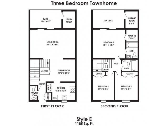 3 Bed 2 5 Bath Apartment In Clayton Nj Rustic Village