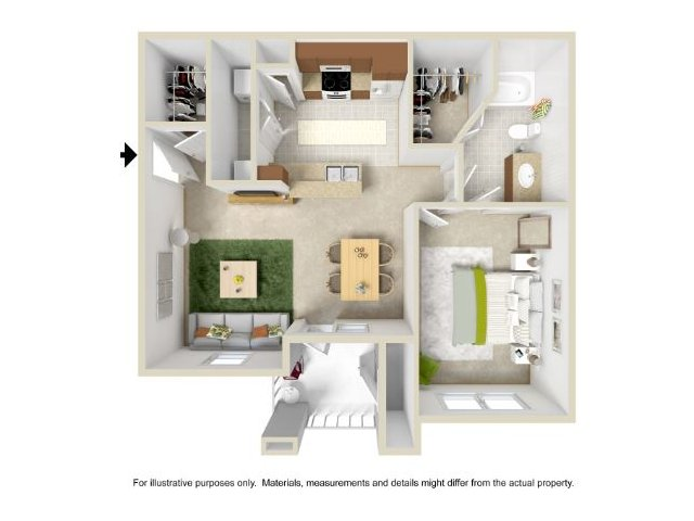 Floor Plan 1 | Legend Park Apartments