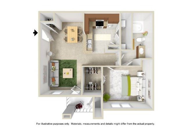 Floor Plan 2 | Legend Park Apartments