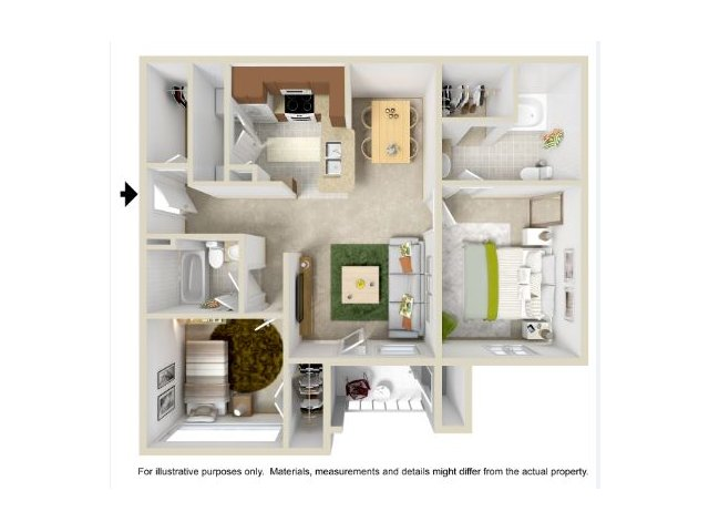 Floor Plan 3 | Legend Park Apartments