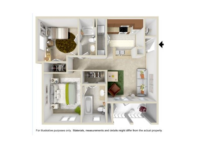 Floor Plan 1 | Legend Park Apartment5