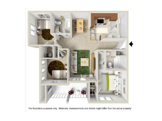 Floor Plan | Legend Park Apartments