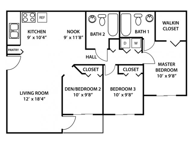 3 bed 2 bath apartment in west palm beach fl palms - 2 bedroom suites in west palm beach fl ...