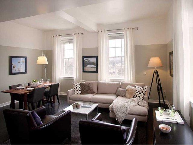 Living Room Luxury San Francisco Apartments Pl
