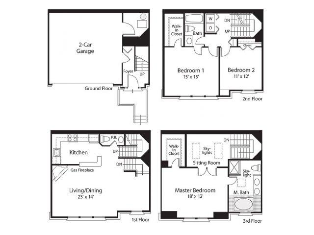 3 Bedroom Floor Plan | Lenox Park