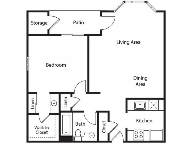 Floor Plan 4 | Bayside Village Apartments