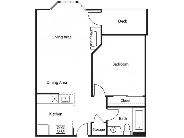 Floor Plan 5 | Bayside Village Apartments