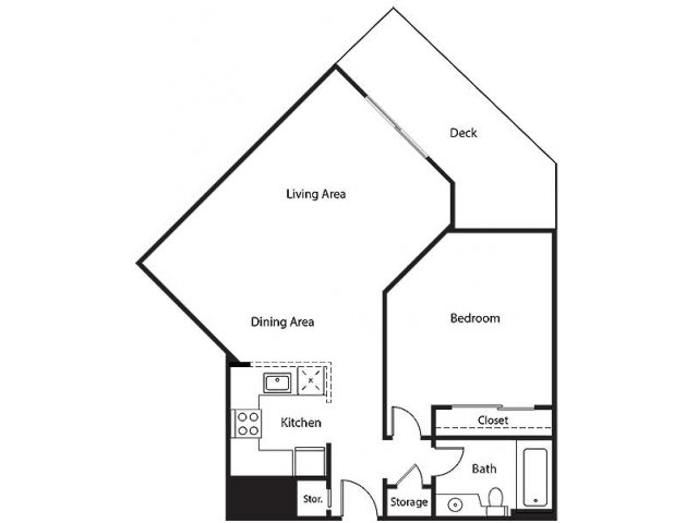 Floor Plan 9 | Bayside Village Apartments
