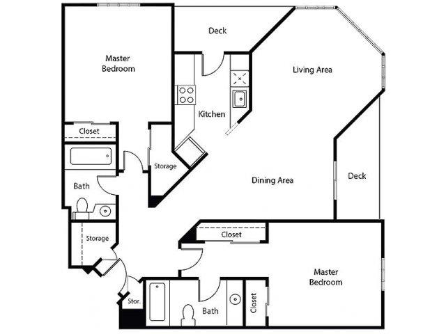 Floor Plan 18   Bayside Village Apartments