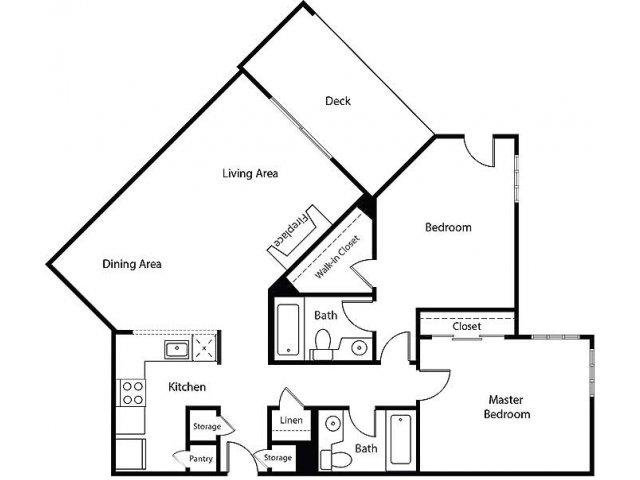 Floor Plan 20   Bayside Village Apartments