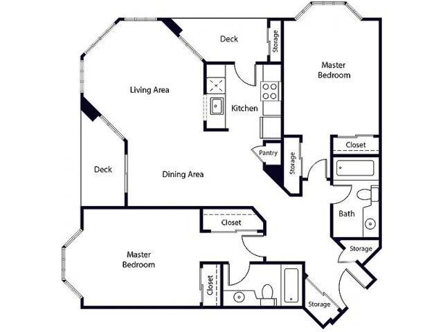Floor Plan 25   Bayside Village Apartments