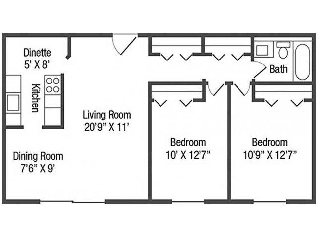 Floor Plan 2 | Chestnut Lake Apartments