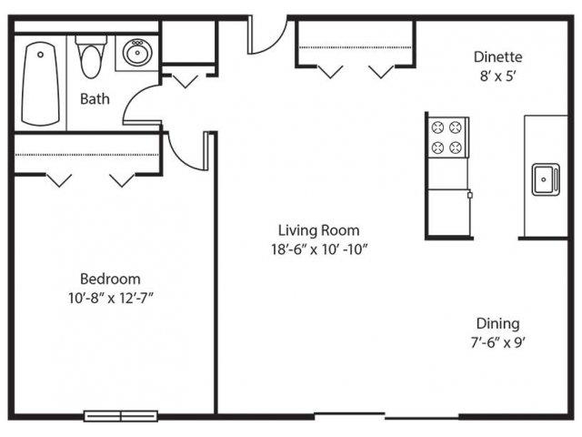 Floor Plan | Chestnut Lake Apartments