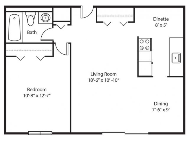 Floor Plan 4 | Chestnut Lake Apartments