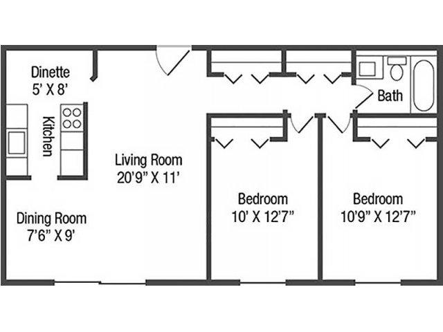 Floor Plan 5 | Chestnut Lake Apartments