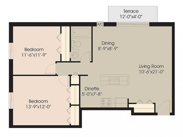 Floor Plan 6 | Chestnut Lake Apartments