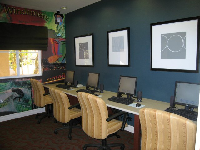 Business center at Muirlands at Windermere, 1108 Crestfield Drive, San Ramon, CA
