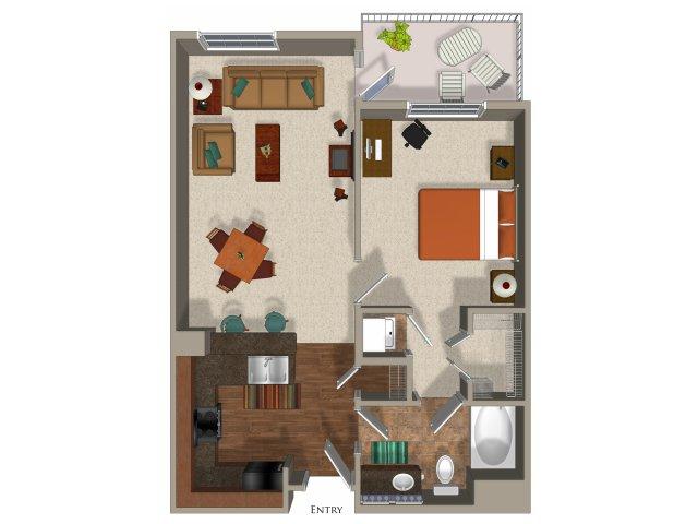 1 bedroom 1 bathroom apartment A3