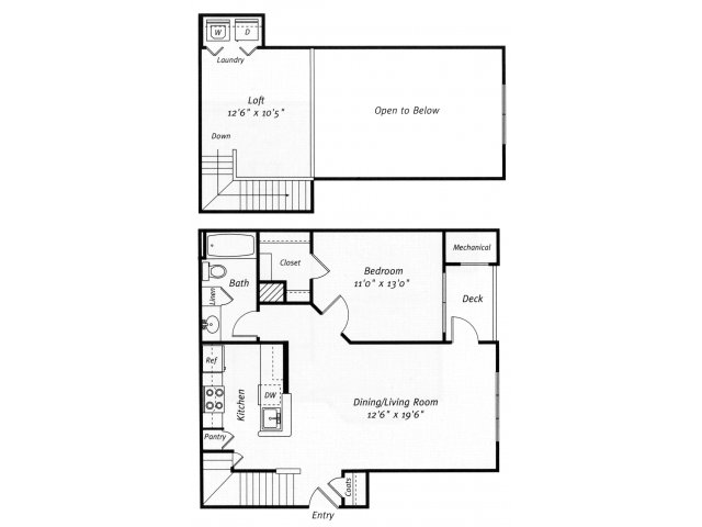 1 bedroom 1 bathroom A5L floor plan at Grand Reserve Orange Apartments in Orange, CT