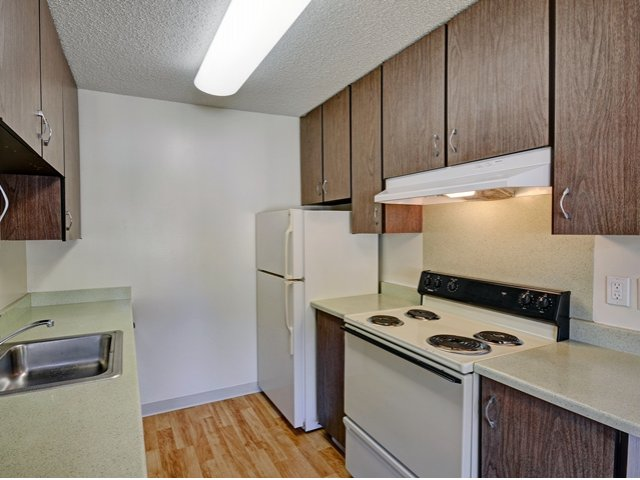 Remodeled kitchens at Wyndover Apartment Homes in Novato, CA