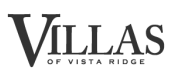 Logo for Villas of Vista Ridge Apartments in Lewisville, TX