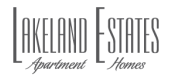 Logo for Lakeland Estates Apartment Homes in Stafford, TX