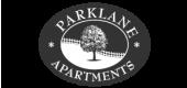 Logo for Parklane Apartments in Columbia, SC.