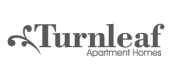 Landing logo for  Turnleaf Apartments in San Jose, CA.