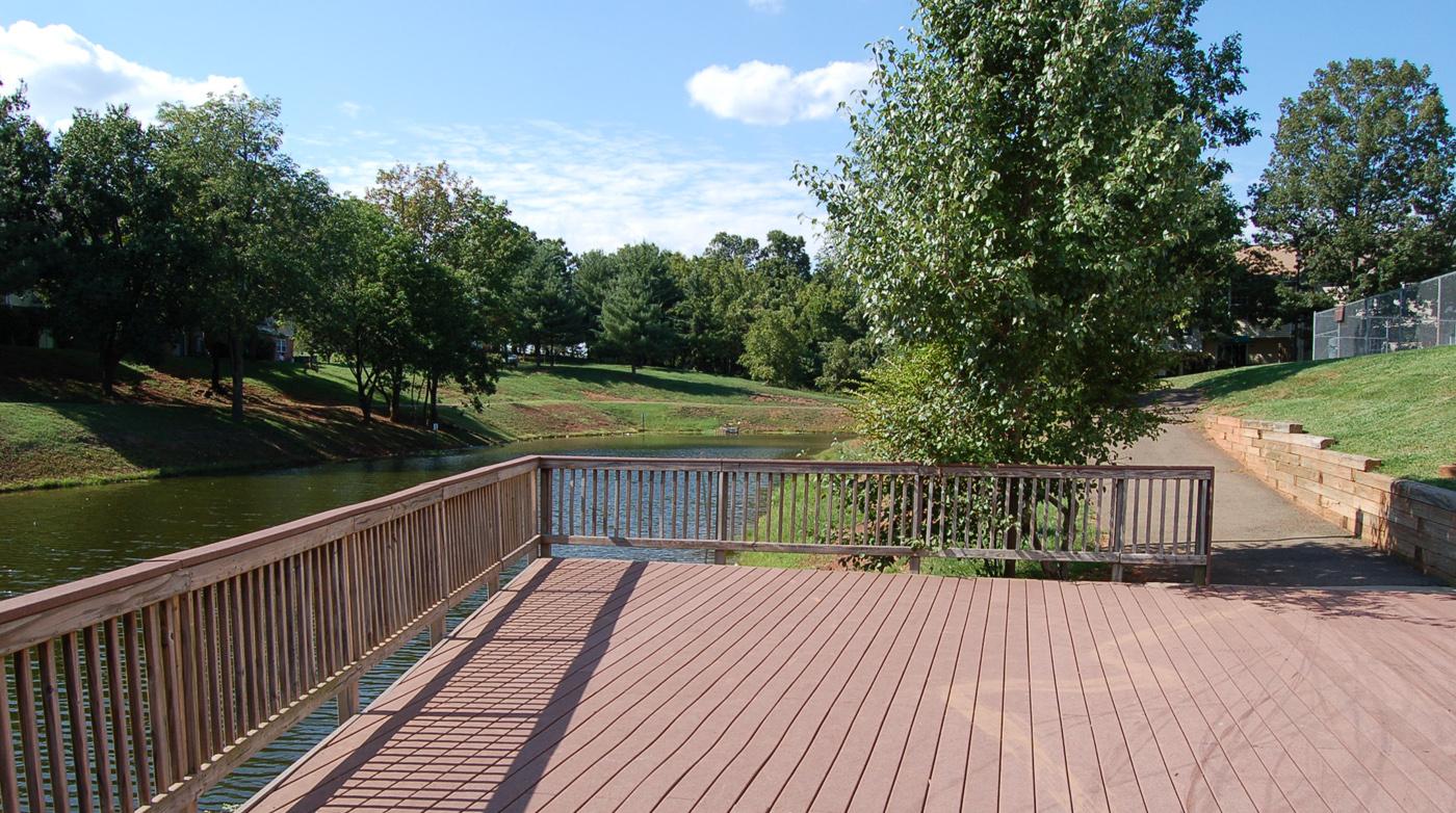 Deck at Brentwood Apartment Homes, 8669 Devonshire Court, Manassas, VA