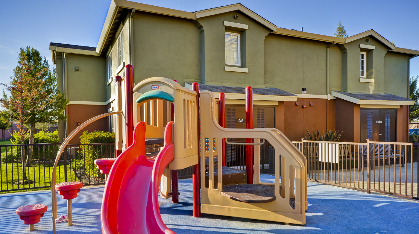 Tot lot at Bristol Apartments in Dixon, CA 95620