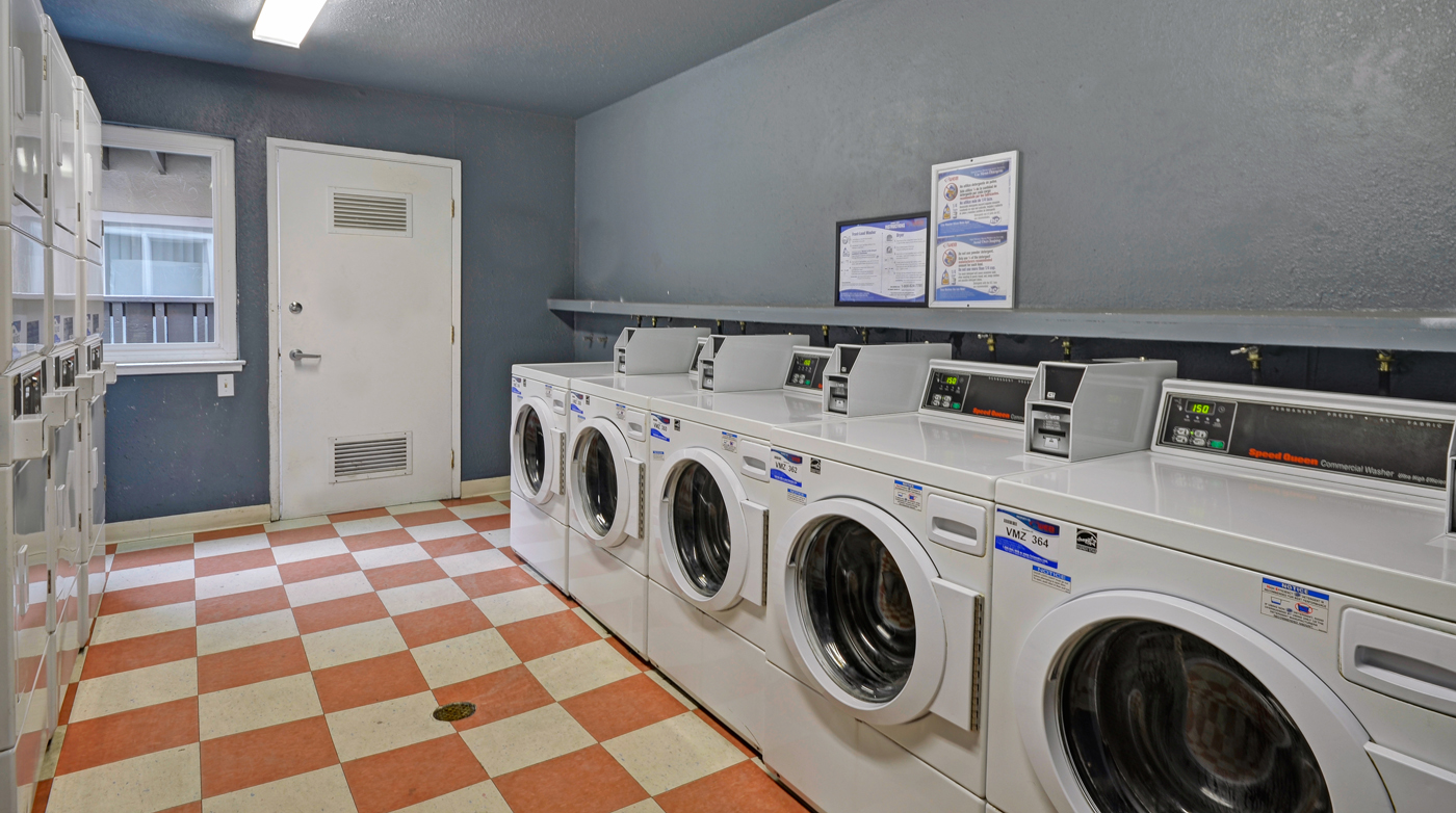 Laundry room at Turnleaf Apartments in San Jose, CA.