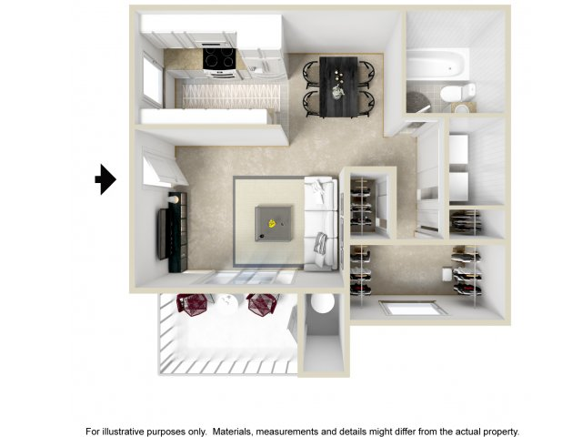 Studio S1 floorplan at Lore South Mountain Apartments in Phoenix, AZ