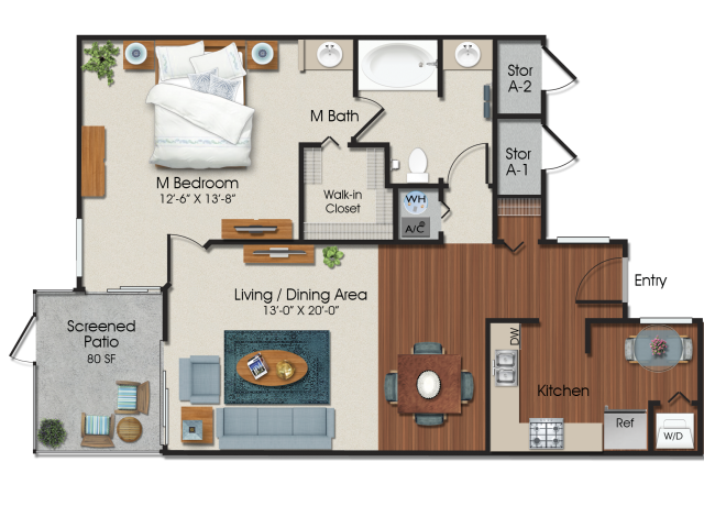 1 bedroom 1 bath at Water\'s Edge Apartments in Sunrise, FL