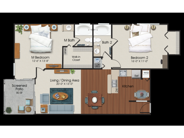 2 bedroom 2 bath at Water\'s Edge Apartments in Sunrise, FL