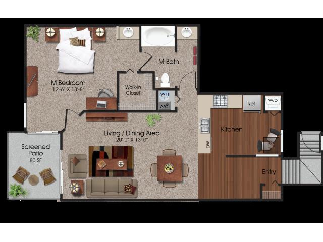 1 bedroom 1 bathroom apartment at Siena Apartments in Plantation, FL