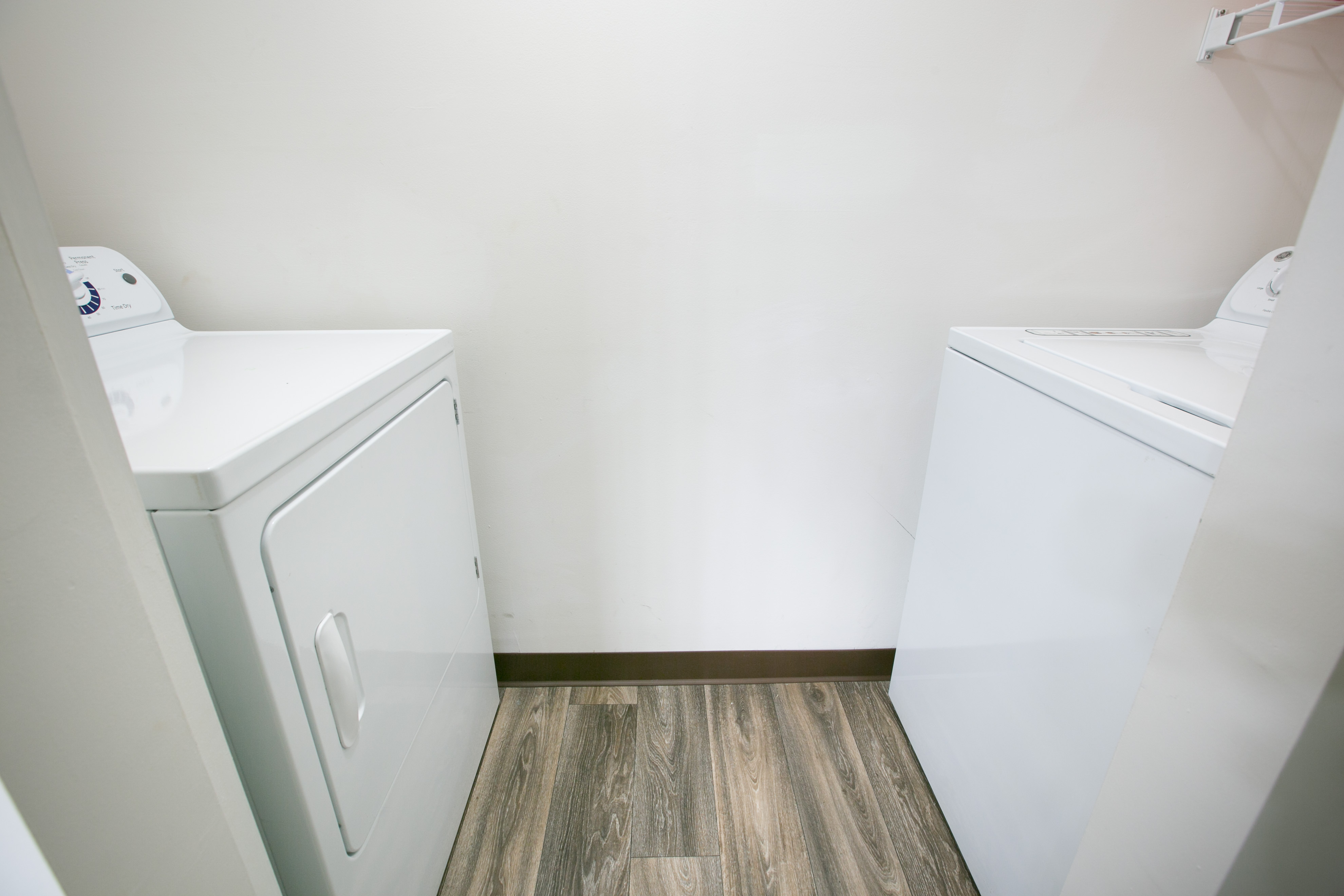 Built in washer and dryer hook ups in each apartment at The Village of Western Reserve Apartments in Streetsboro, OH