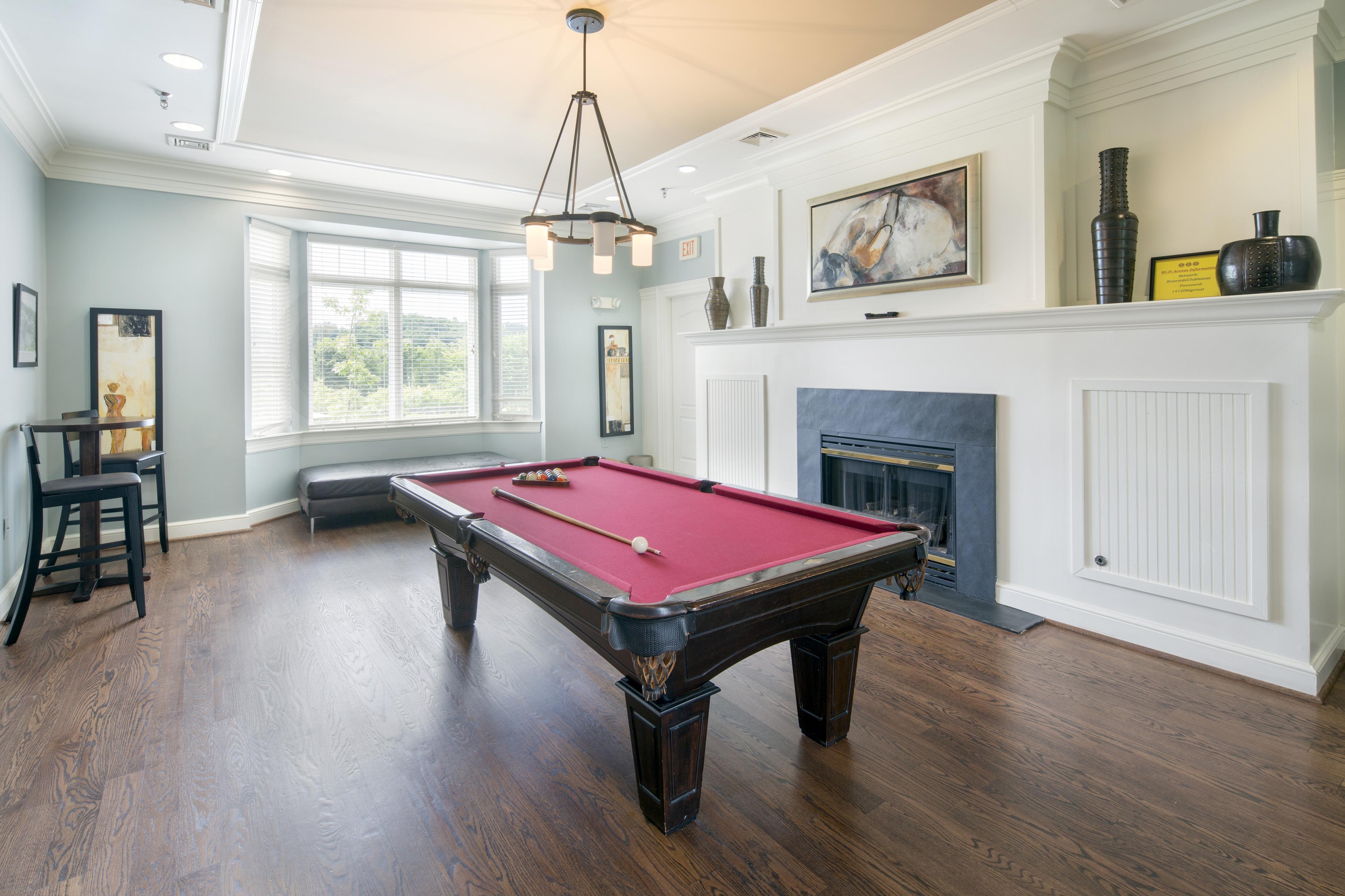 Billiards table at Riverside Station Apartments in Woodbridge, VA