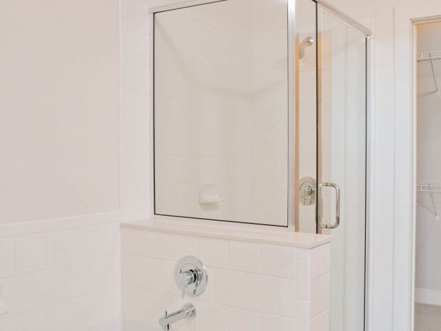 Image of Glass enclosed showers* for Talia Apartments