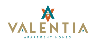 Logo for Valentia Apartment Homes in La Habra, CA