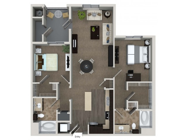 la apartments 2 bedroom. 2 bedroom bathroom b3 floorplan at valentia apartments in la habra, ca