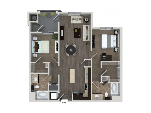 2 bedroom 2 bathroom B3.1