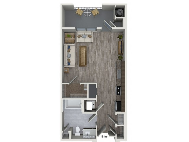 S1 studio floorplan at 808 West Apartments in San Jose, CA