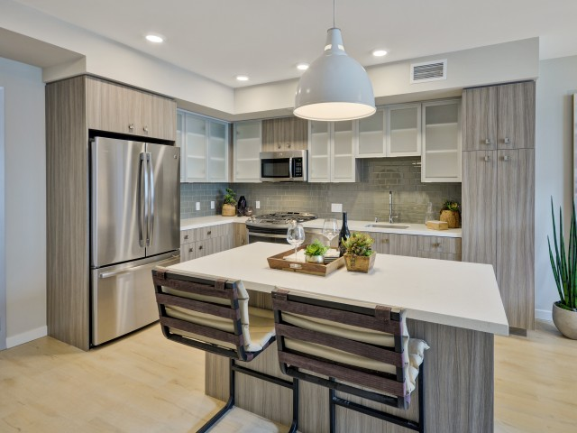 Prism design package at L Seven Apartments in San Francisco CA